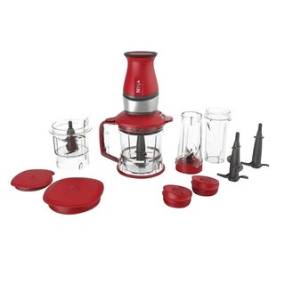 Refurbished Nutri Ninja 2 in 1 Blender/Food Processor-Red