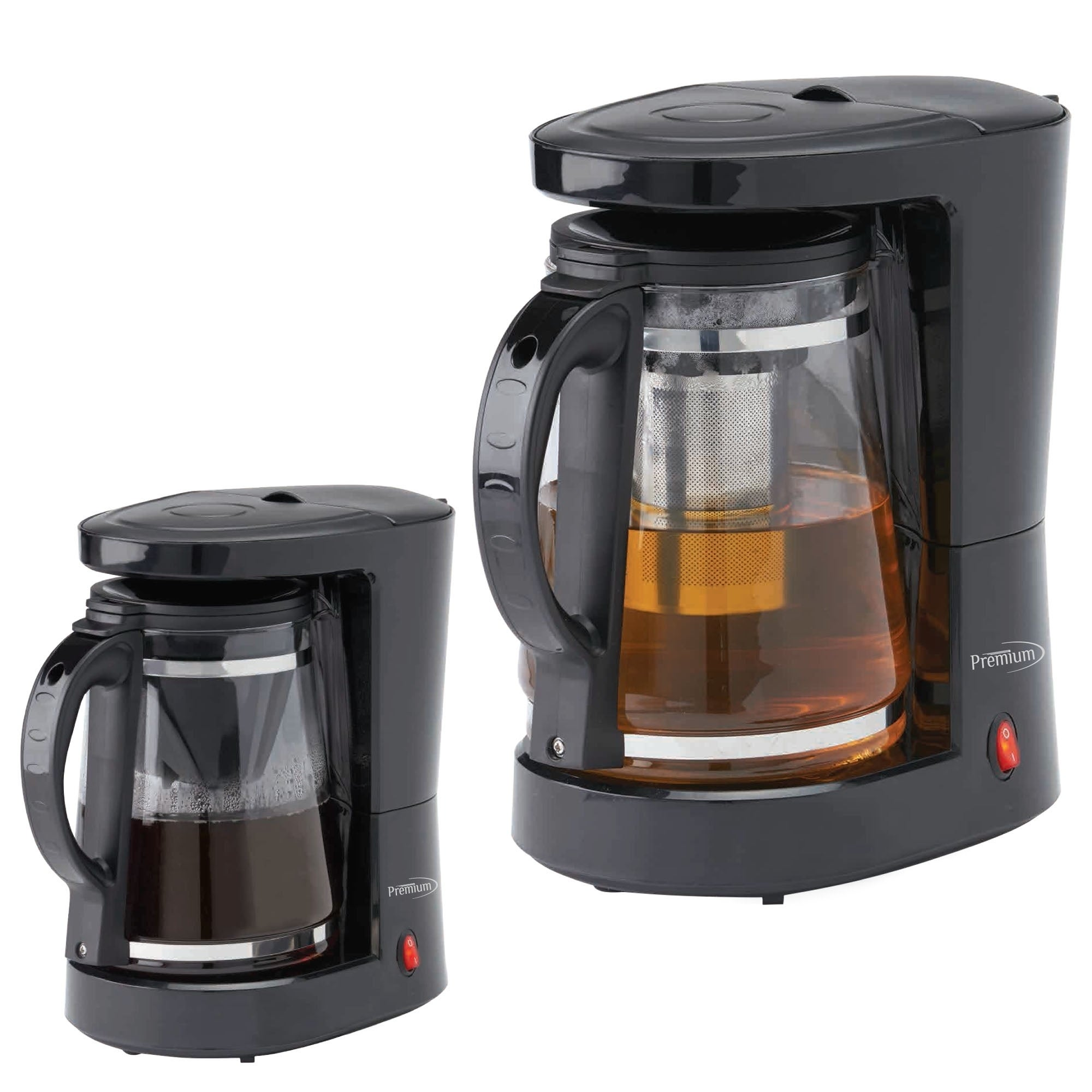 Premium Coffee and Tea Maker with Hot Water Dispenser, Black