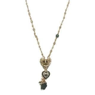 Amaro 'Primitive' Collection 24K Rose Gold Plated Chain - Black