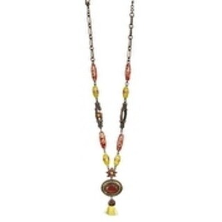 Spiritual Light' Collection Rhodium Plated Necklace by Amaro - Yellow
