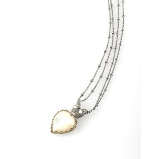 Moon Star' Collection Rhodium Plated Chain by Amaro - White