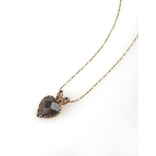 Winter Sunset' Collection 24K Rose Gold Plated Chain by Amaro - Burgundy