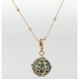 Deep Forest' Collection 24K Rose Gold Plated Chain by Amaro - Green