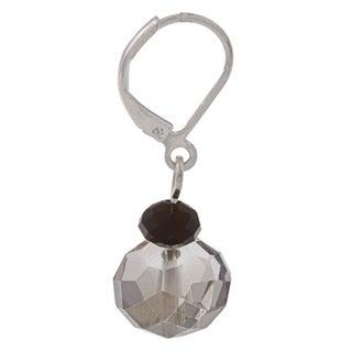 Silvertone Stacked Crystal Bead Earrings - Silver