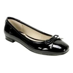 Womens Stuart Weitzman Rialto Flats Shoes Black Patent DCG80511