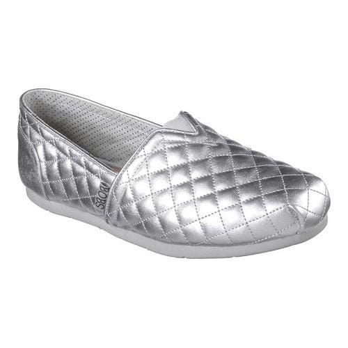 8025af28ca78 Shop Women s Skechers Luxe BOBS Check Point Alpargata Silver - Free  Shipping Today - Overstock - 17811307