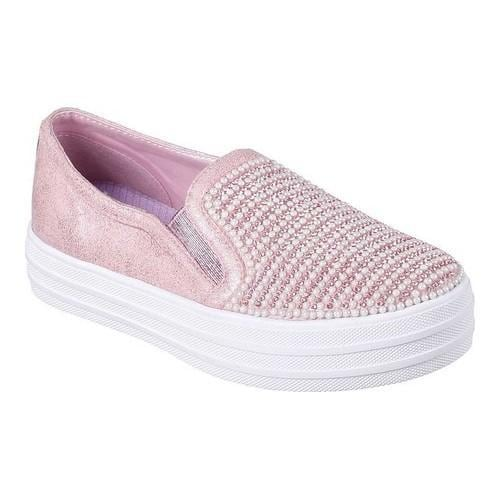 Shop Girls  Skechers Double Up Shiny Dancer Slip-On Sneaker Pink - Free  Shipping Today - Overstock - 17811402 a6aac0751cdb