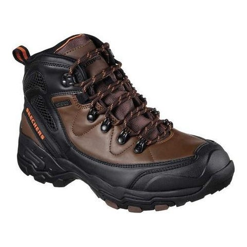 Men's Skechers Relaxed Fit Pedley Aster Hiking Boot Brown