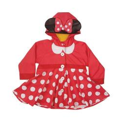 Girls' Western Chief Minnie Mouse Rain Coat Red