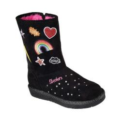 Girls' Skechers Twinkle Toes Glamslam Cool Weather Boot Black/Multi
