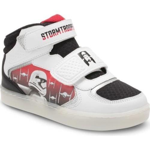 Boys' Stride Rite Star Wars Stormtrooper Galaxy Sneaker - Preschool White Leather/Textile