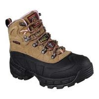 Women's Skechers Work Relaxed Fit Radford Ligonier WP Comp Toe Boot Light Brown