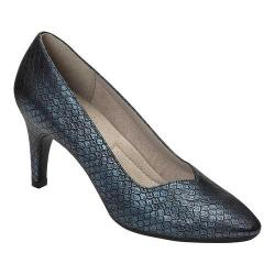 Women's A2 by Aerosoles Expert Pump Blue Snake Printed Faux Leather