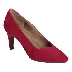 Women's A2 by Aerosoles Expert Pump Red Faux Suede