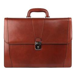 Bosca Old Leather Double Gusset Brief Cognac
