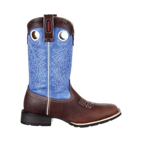 ... Men's Durango Boot DDB0121 Mustang 12in Mustang Western Boot Dark  Brown/ ...