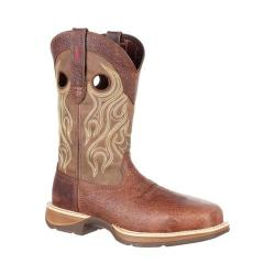 Men's Durango Boot DDB0122 Rebel 12in Waterproof Western Boot Distressed Brown/Tan Full Grain Leather/Synthetic