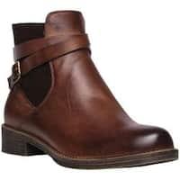 Women's Propet Tatum Bootie Brown Full Grain Leather