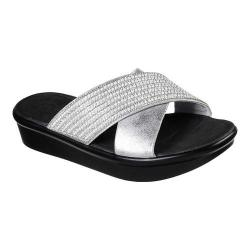 Women's Skechers Bumblers Summer Scorcher Slide Sandal Silver