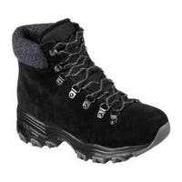 Women's Skechers D'Lites Powder Cold Weather Ankle Boot Black