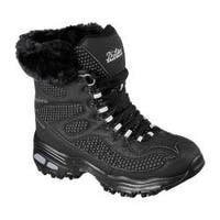 Women's Skechers D'Lites Snow Plaza Mid Calf Boot Black
