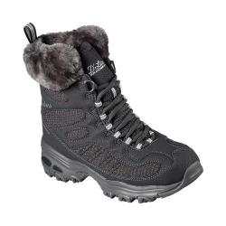Women's Skechers D'Lites Snow Plaza Mid Calf Boot Charcoal