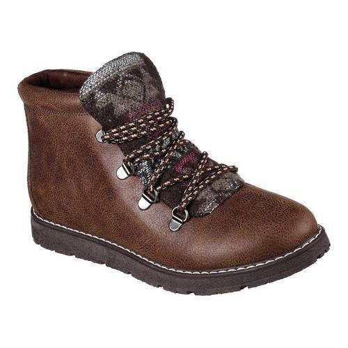 In 2017 Tiles Skechers Bobs Alpine Smores Lace Up Boot Chocolate