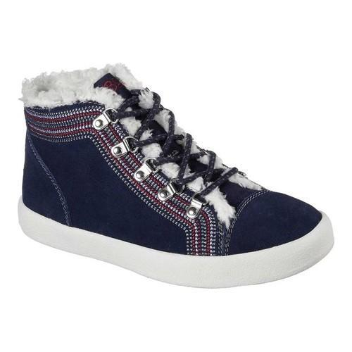 bf740a3644cb Shop Women s Skechers BOBS B-Loved Alpine Princess Mid Top Navy - Free  Shipping Today - Overstock - 17829356