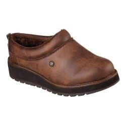 Women's Skechers BOBS Keepsakes High Snow Cat Clog Slipper Brown