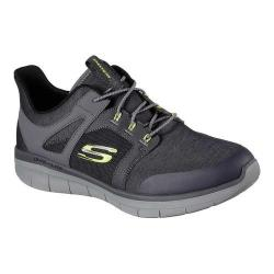 Men's Skechers Synergy 2.0 Chekwa Sneaker Charcoal/Lime