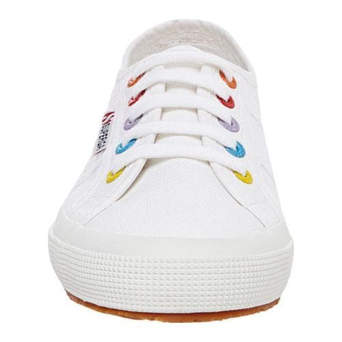 16fe525ff1212 Women's Superga 2750 Colored Eyelets Sneaker White Multi Cotton Canvas |  Overstock.com Shopping - The Best Deals on Sneakers