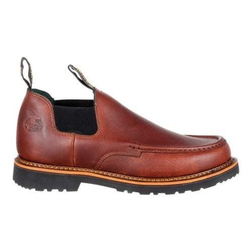 Men's Georgia Boot GB00165 4in Giant Moc Toe Romeo Work Shoe Brown Full  Grain Leather - Free Shipping Today - Overstock.com - 24032568