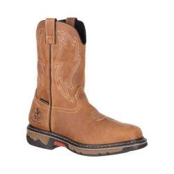 Men's Georgia Boot GB00161 10in Carbo-Tec Wellington WP Work Boot Dark Brown Full Grain Leather