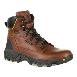 Men's Georgia Boot GB00168 6in FLXpoint WP Composite Toe Work Boot Brown Full Grain Leather