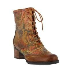 Women's L'Artiste by Spring Step Lorita Lace Up Boot Camel Leather
