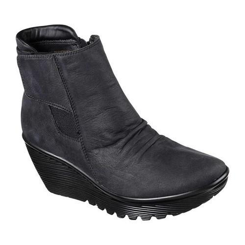 d5097a81e76b Shop Women s Skechers Parallel Fastened Wedge Ankle Boot Black - Free  Shipping Today - Overstock - 17843392