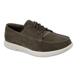 Men's Skechers On the GO Glide Vision Boat Shoe Khaki