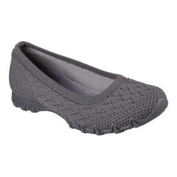 Women's Skechers Relaxed Fit Bikers Witty Knit Skimmer Charcoal
