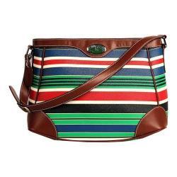Women's 3 Lily Pads Champlain Hobo Handbag Resort Multi Stripe Print