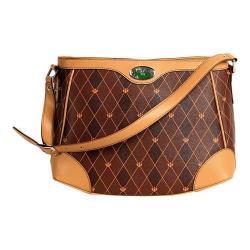 Women's 3 Lily Pads Champlain Hobo Handbag Savile Row Monogram Diamond Print