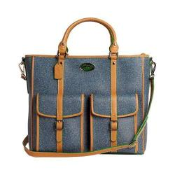 Women's 3 Lily Pads Saugatuck Briefcase Midtown Blue Denim Print