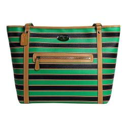 Women's 3 Lily Pads St. Clair Tote Bag Resort Green Stripe Print
