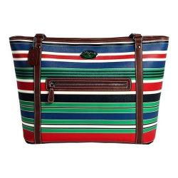 Women's 3 Lily Pads St. Clair Tote Bag Resort Multi Stripe Print