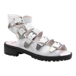 Women's Bronx Ultra Fast White/Black Speckled Leather