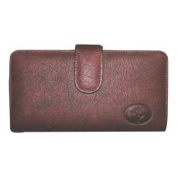 Women's Buxton Heiress Checkbook Clutch Burgundy