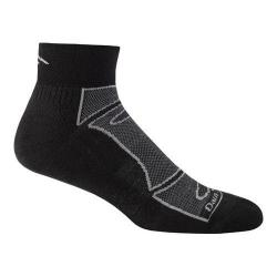 Men's Darn Tough Vermont 1/4 Sock Ultra-Light Cushion 1723 (2 Pairs) Black/Gray