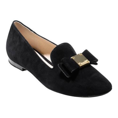 9b80e52c19d Shop Women s Cole Haan Tali Bow Loafer Black Suede - On Sale - Free  Shipping Today - Overstock.com - 17905139