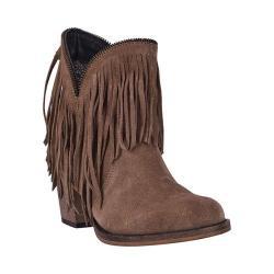 Women's Dingo JuJu Fringe Ankle Boot DI7454 Tan Suede Leather