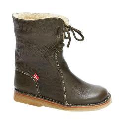 Duckfeet Arhus Shearling Lined Boot Olive Leather