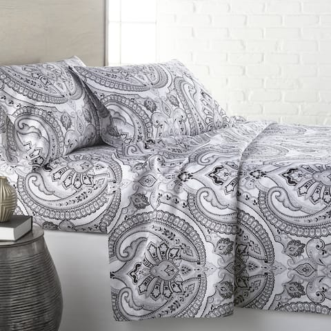 Vilano Deep Pocket Ultra-Soft Pure Melody 4-piece Paisley Bed Sheet Set